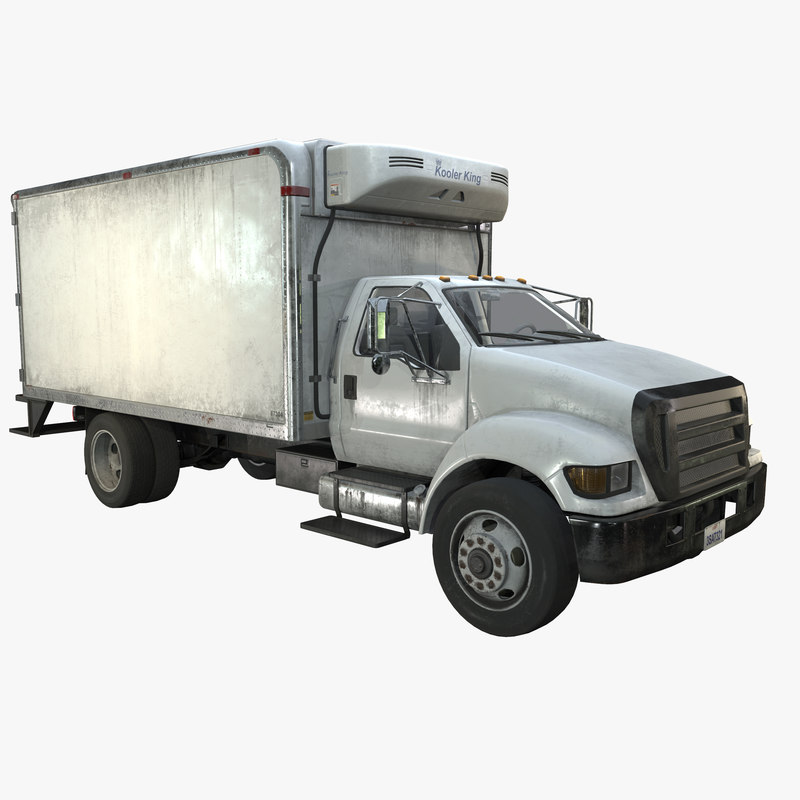 3d model refrigerator truck vehicle