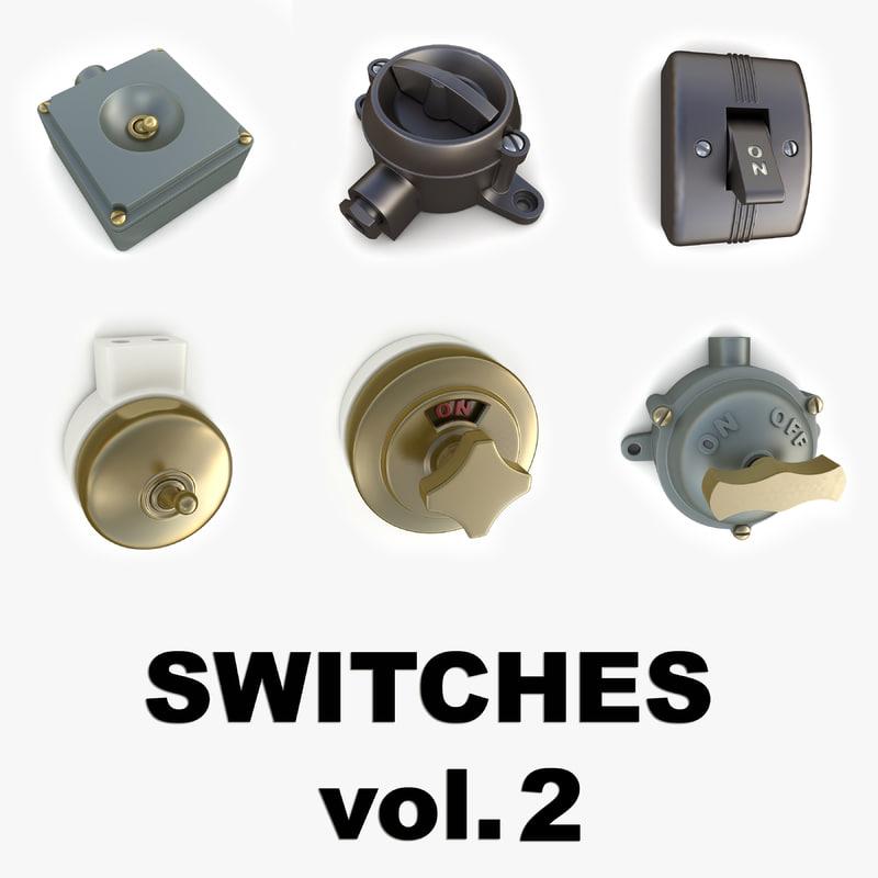 3d vintage switches vol 2