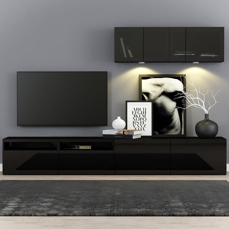 3d Model Besta Ikea