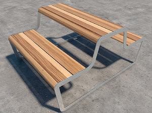 3d 3ds picnic table