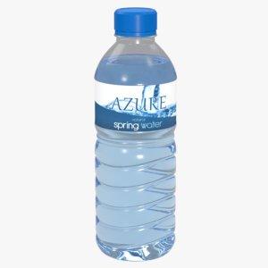 3d model water bottled