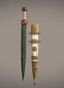 roman gladius sword tiberius 3ds