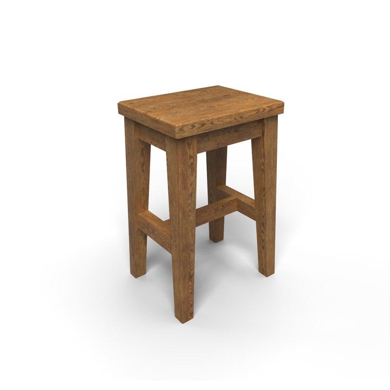 unity stool obj
