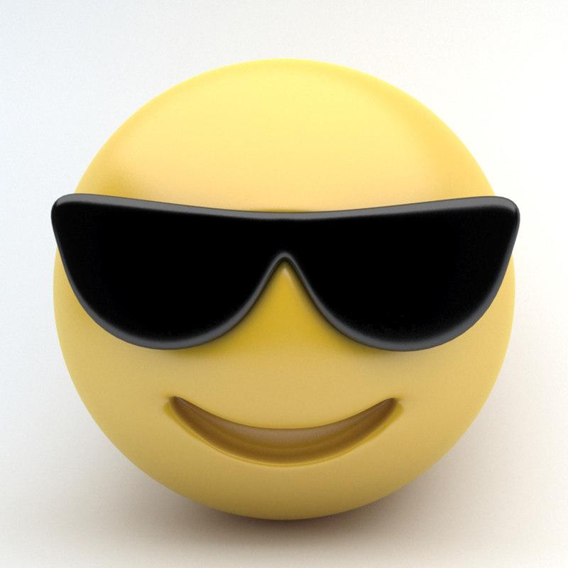 emoji sunglasses 3d 3ds