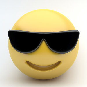 emoji sunglasses 3d 3ds
