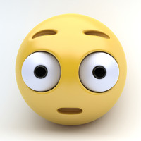 3d model emoji surprised