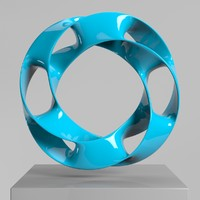 3d model of wavy ring