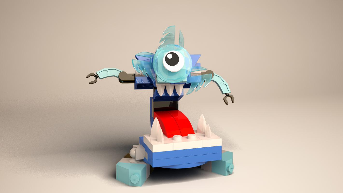 3d lego mixels krog