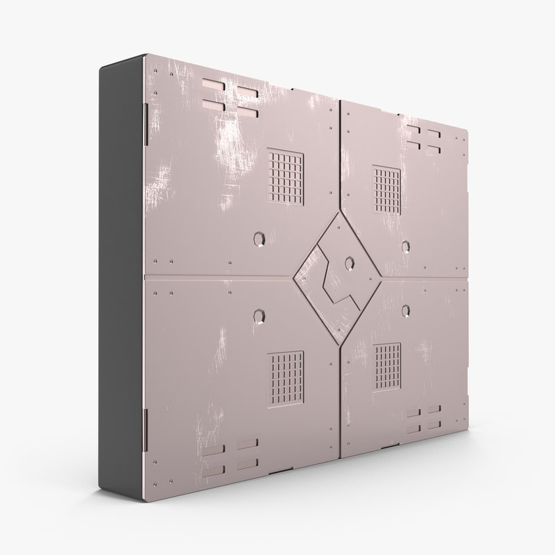 sci-fi anodized panel 2 3d model