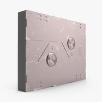3d model sci-fi anodized panel 3