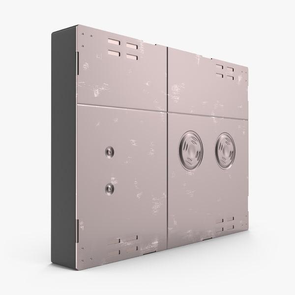 sci-fi anodized panel 4 3d model