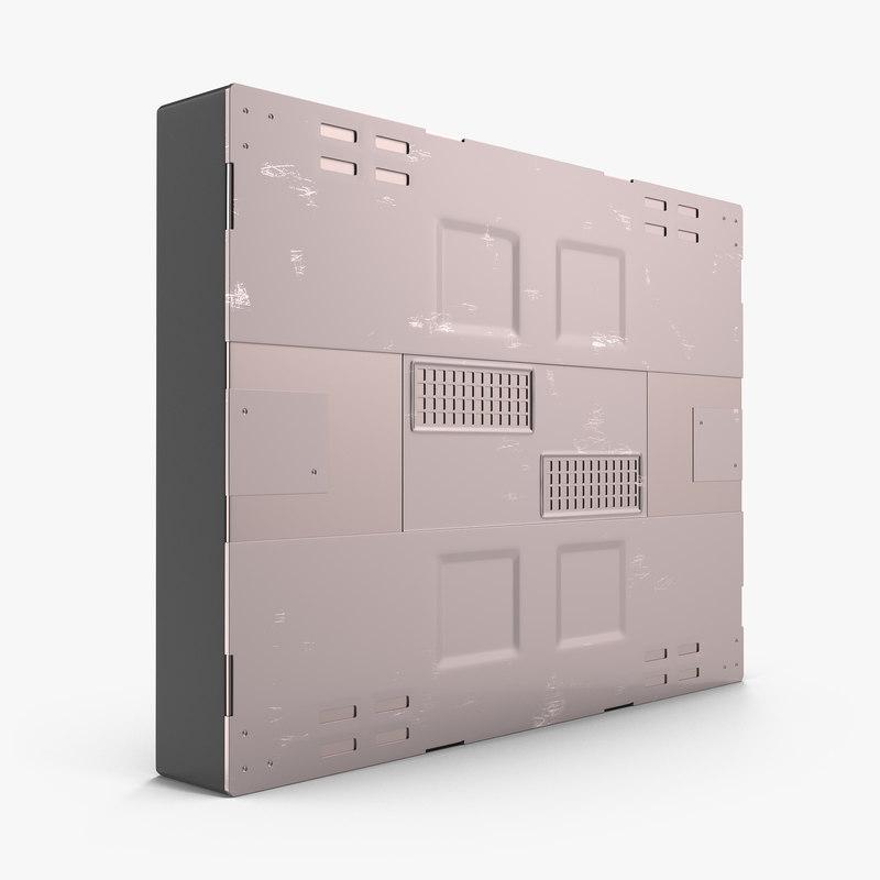 sci-fi anodized panel 3d model