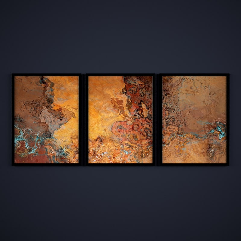contemporary paintings abstraction 3d obj