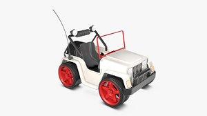 cartoon jeep car c4d
