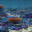 Ocean floor coral reefs cartoon /Underwater/