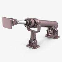 anodized hydraulic cylinder 8 3d max