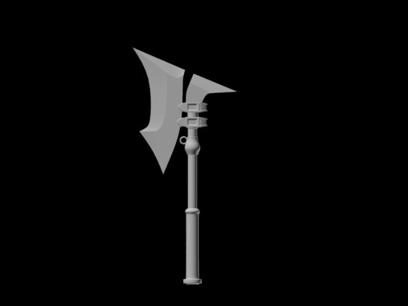 3d axe model