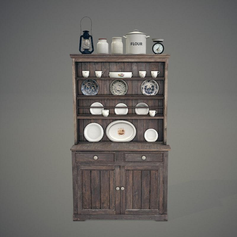 3d old dresser