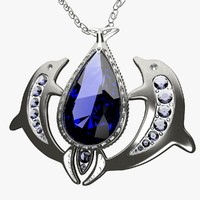 3d model of pendant jewel