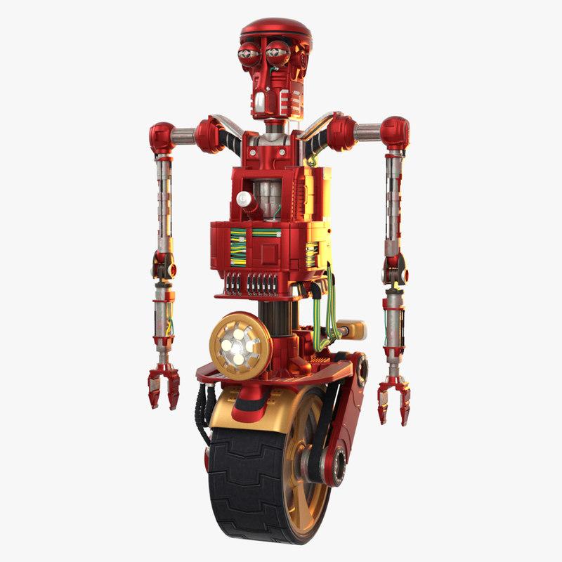 robot - red loom 3d model