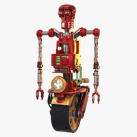 robot - red loom 3d model