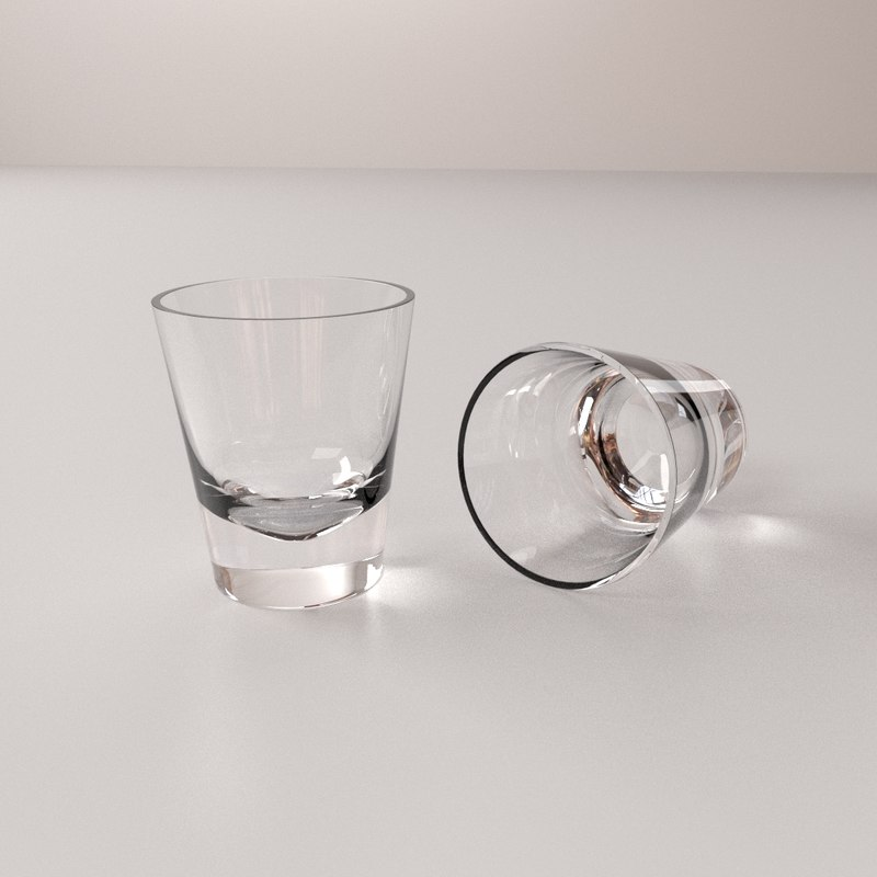 shot glass 3d model