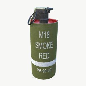 m18 smoke grenade - 3d model