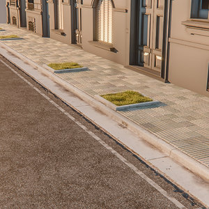 3d photogrametry street sidewalk