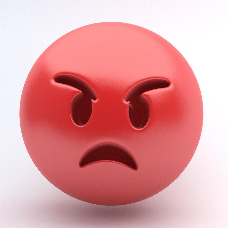 3d emoji rage