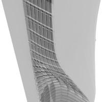 3d model modern rise skyscraper