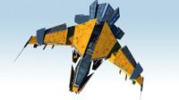 3d model space jet fighter