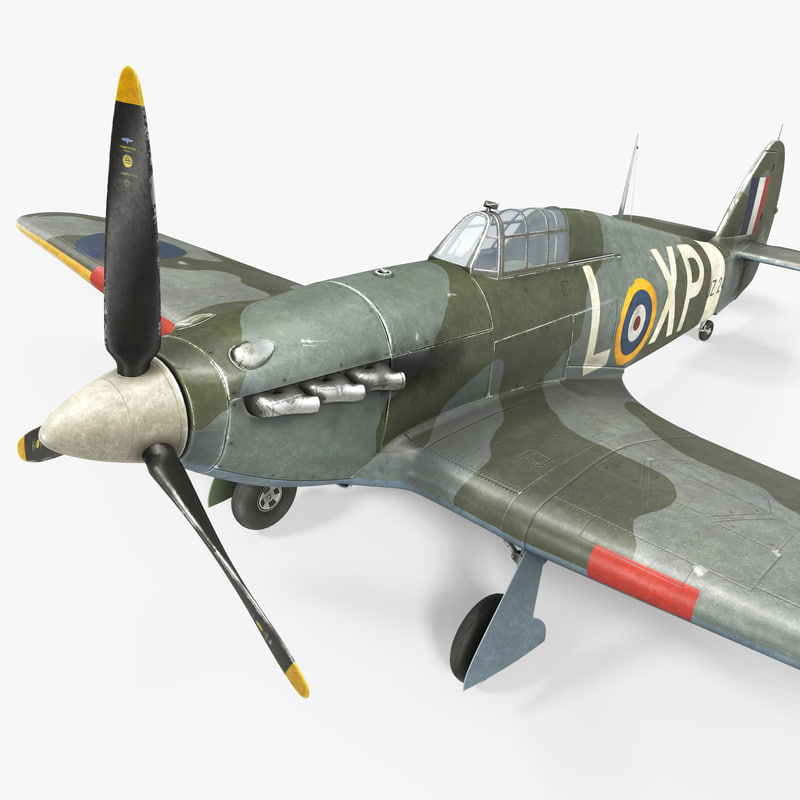 hawker hurricane weathered 3ds