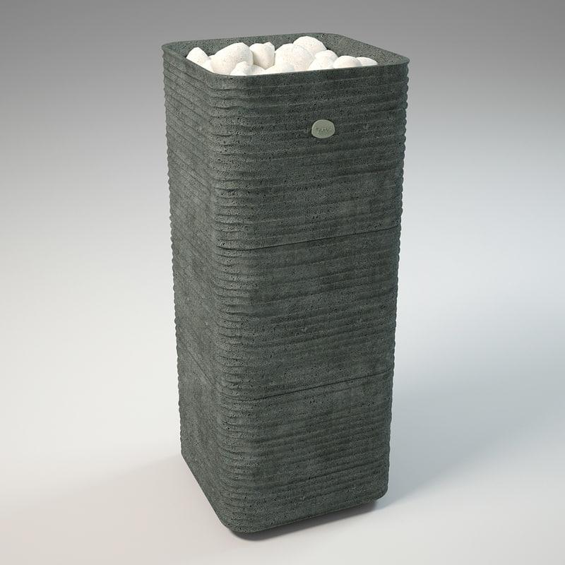 electric tulikivi huurre 3d model