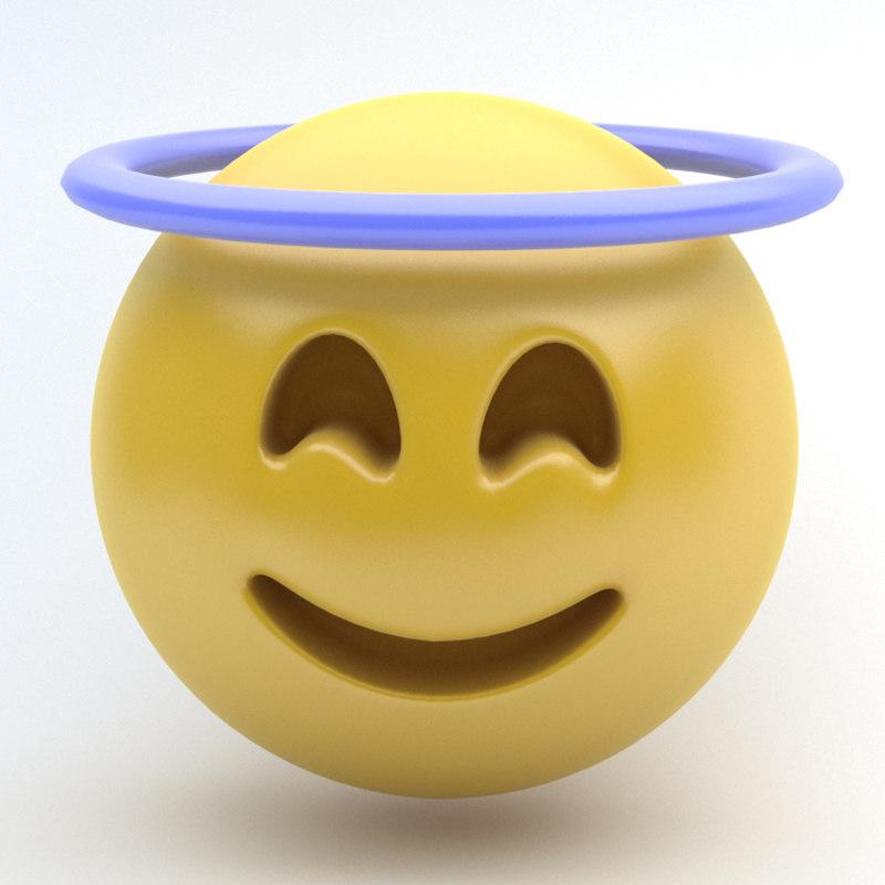 3d model emoji innocent