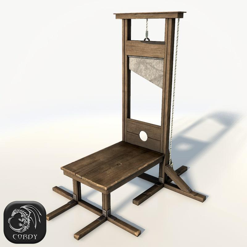 guillotine 3d obj