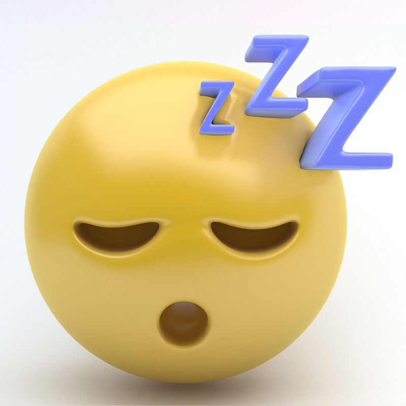 3d emoji sleep