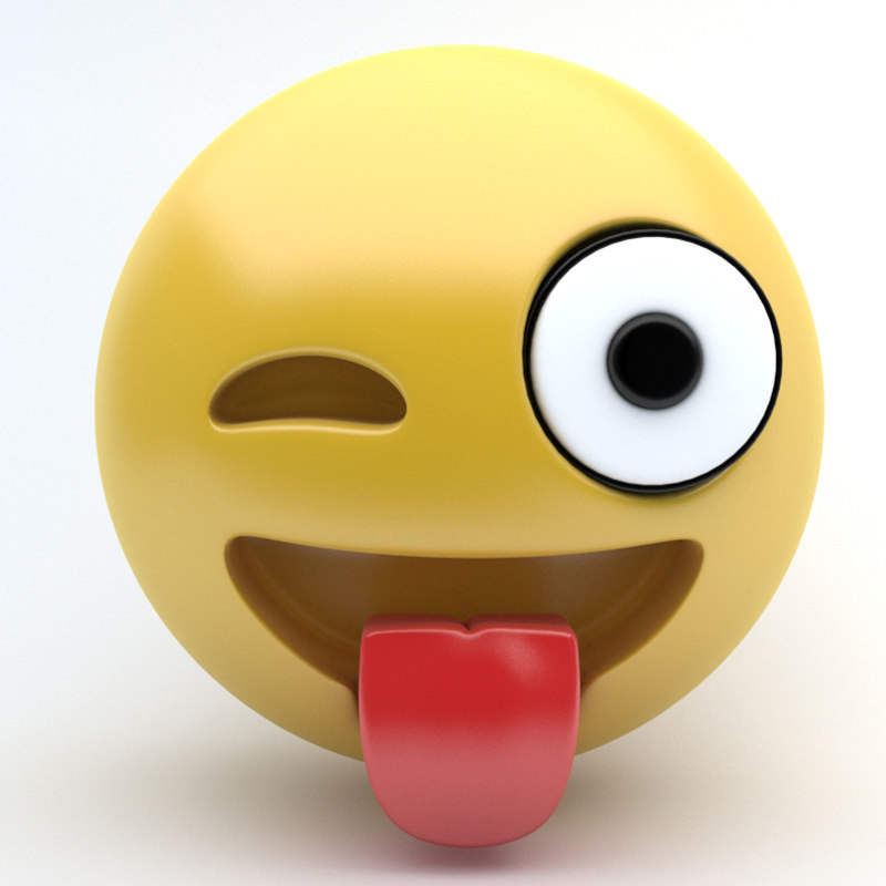 emoji tongue 3d 3ds