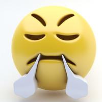 3d model emoji triump