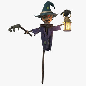 3d model scarecrow scare crow