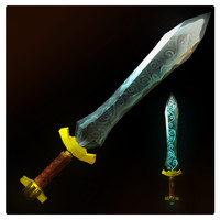 3d magic sword model