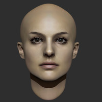 beauty woman head 3ds