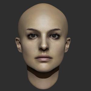 beauty woman head 3ds