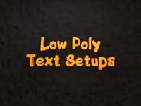 text setups 3d model