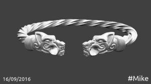 free bracelet viking 3d model
