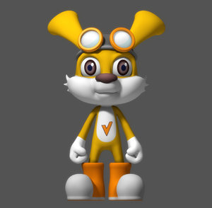 cartoon rabbit 3d x
