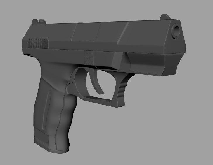 walther handgun fbx