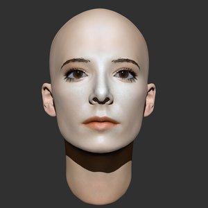 3ds beauty woman head 2