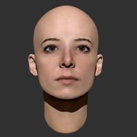 Beauty woman head 3