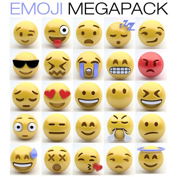 3d model of emoji emotions