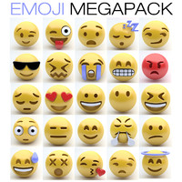 3d model of emoji emotions